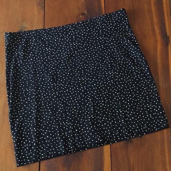 8a0cf50a04 H&M Skirts | Hm Black And White Polka Dot Skirt | Poshmark